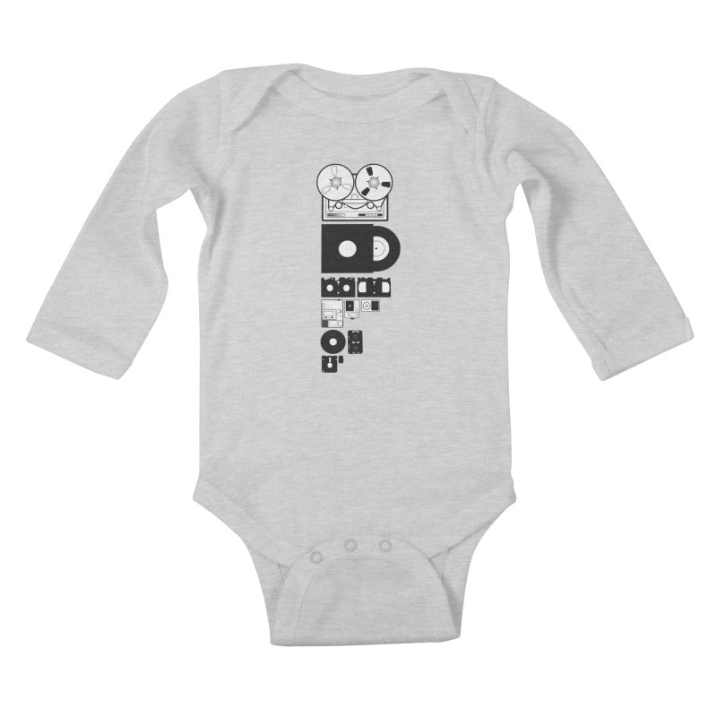 Dead Format Kids Baby Longsleeve Bodysuit by I am a graphic designer