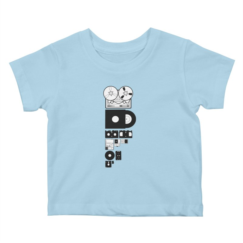 Dead Format Kids Baby T-Shirt by I am a graphic designer