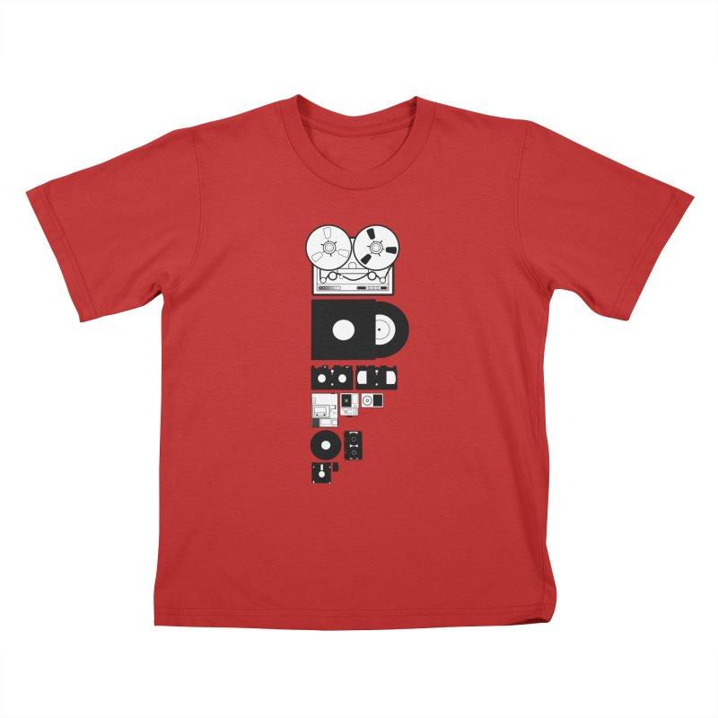 Dead Format Kids T-Shirt by I am a graphic designer