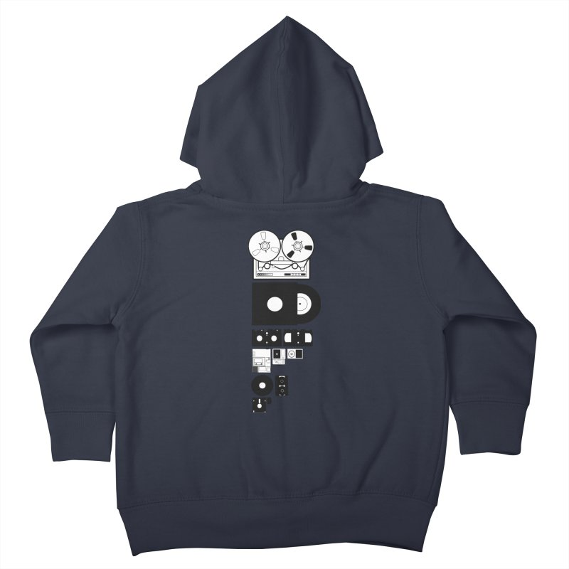 Dead Format Kids Toddler Zip-Up Hoody by I am a graphic designer
