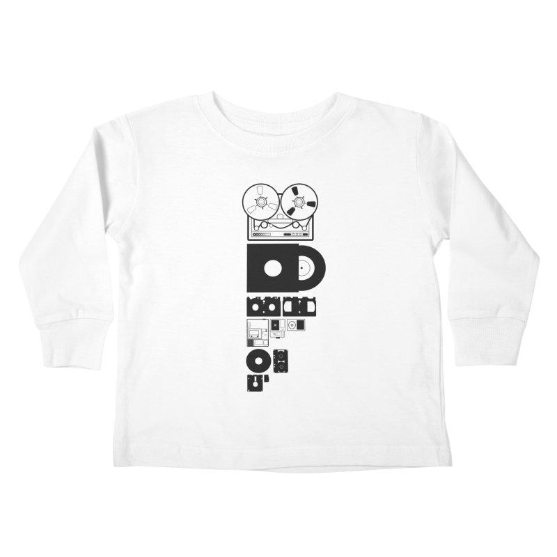 Dead Format Kids Toddler Longsleeve T-Shirt by I am a graphic designer