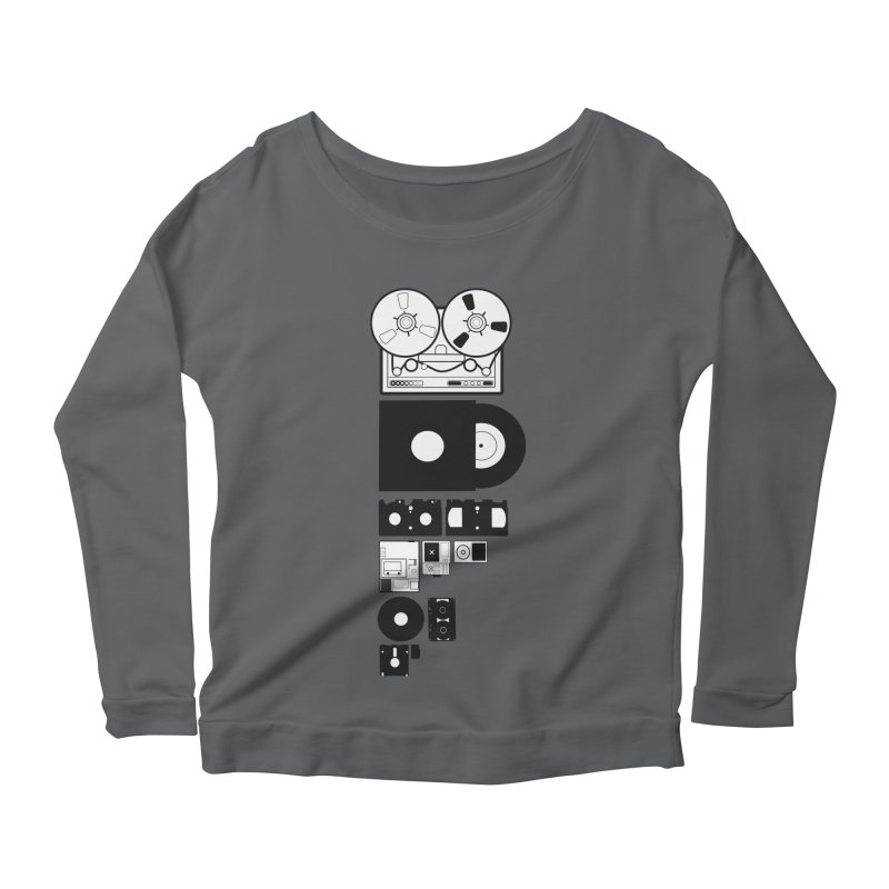Dead Format Women's Scoop Neck Longsleeve T-Shirt by I am a graphic designer