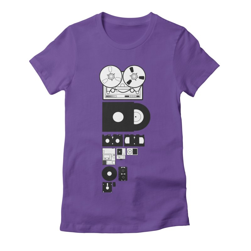 Dead Format Women's Fitted T-Shirt by I am a graphic designer