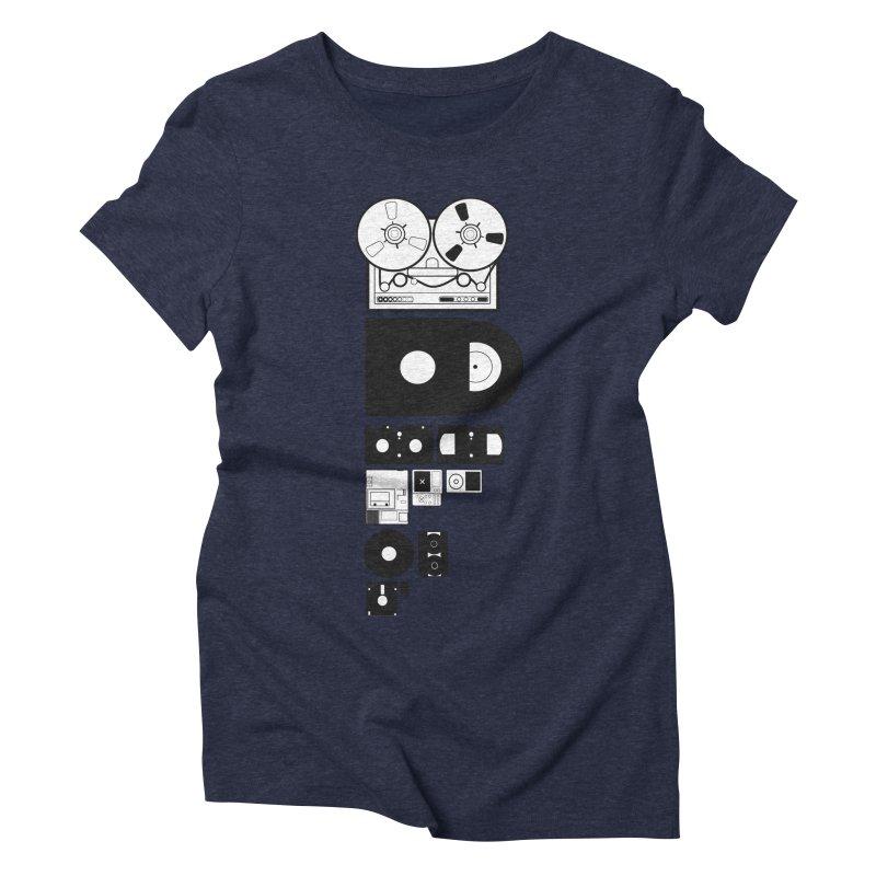 Dead Format Women's Triblend T-Shirt by I am a graphic designer