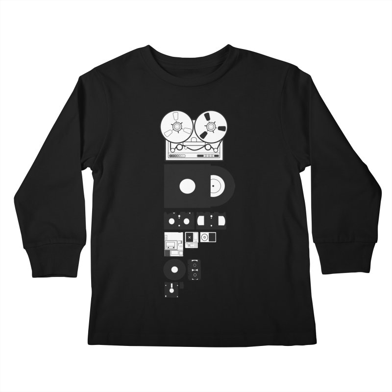 Dead Format Kids Longsleeve T-Shirt by I am a graphic designer