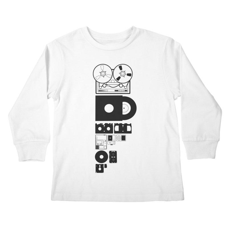 Dead Format Kids Longsleeve T-Shirt by I am a graphic designer