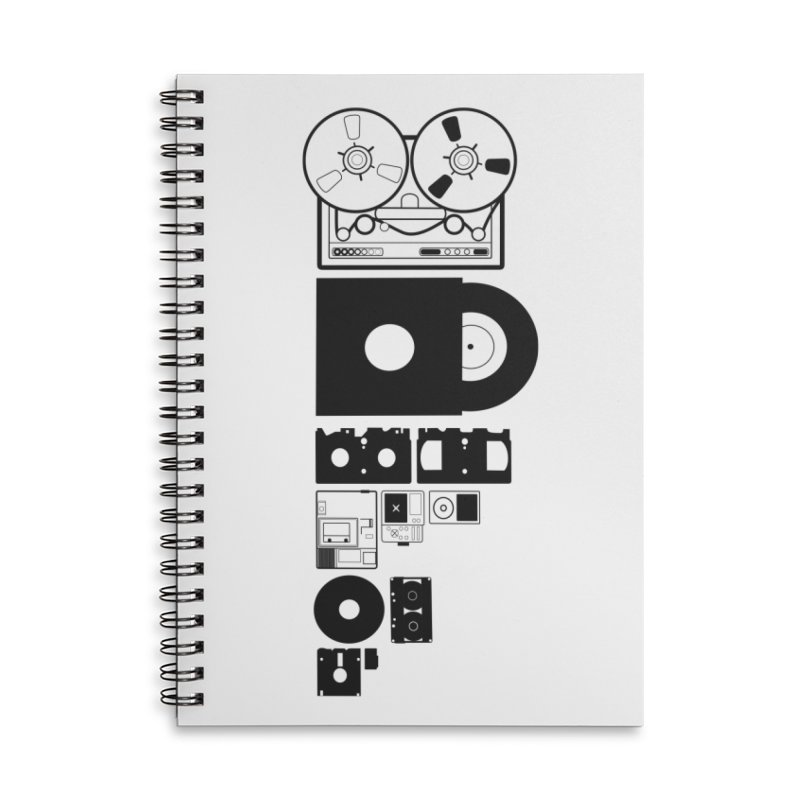 Dead Format Accessories Lined Spiral Notebook by I am a graphic designer