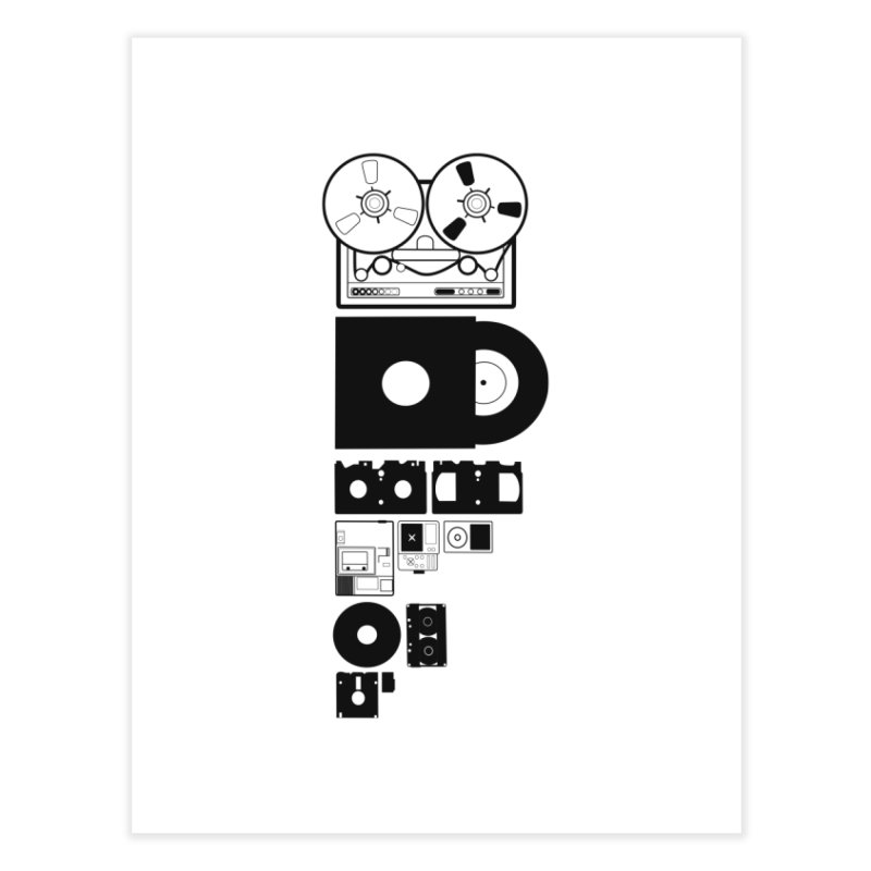 Dead Format Home Fine Art Print by I am a graphic designer