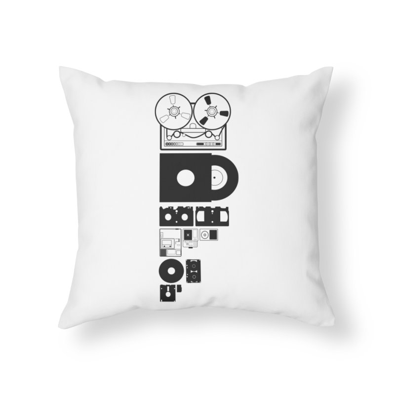 Dead Format Home Throw Pillow by I am a graphic designer