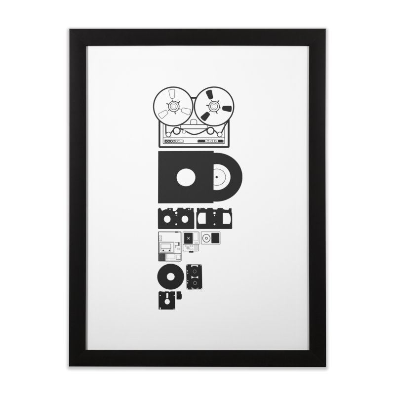 Dead Format Home Framed Fine Art Print by I am a graphic designer
