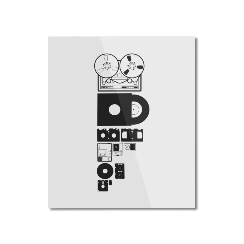 Dead Format Home Mounted Aluminum Print by I am a graphic designer