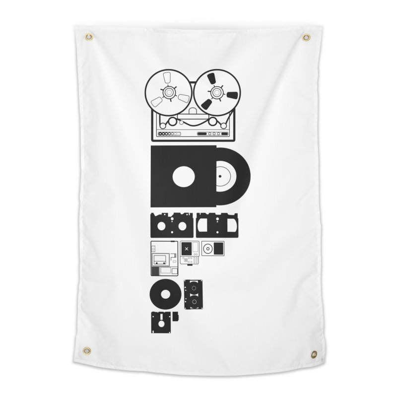 Dead Format Home Tapestry by I am a graphic designer