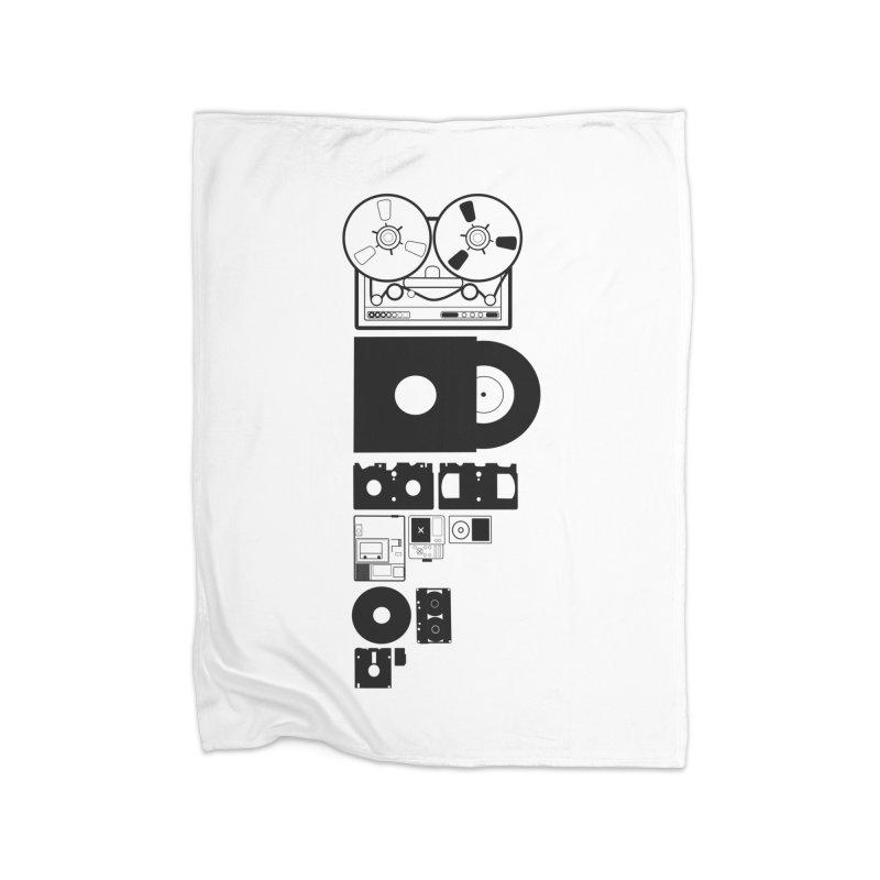 Dead Format Home Fleece Blanket Blanket by I am a graphic designer