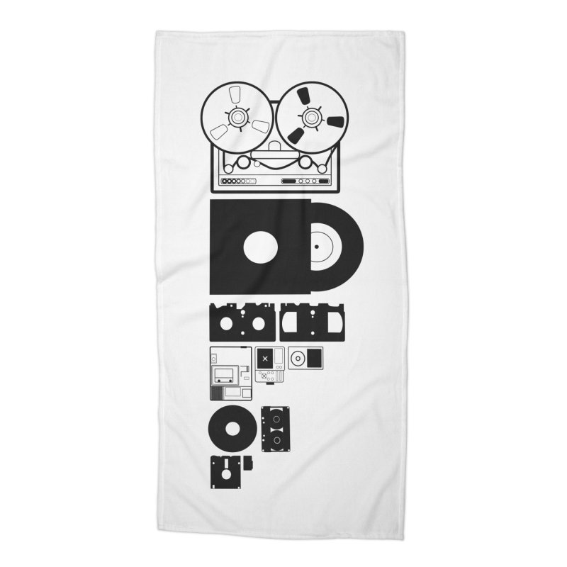 Dead Format Accessories Beach Towel by I am a graphic designer