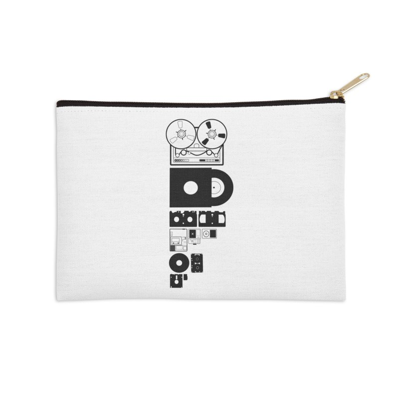 Dead Format Accessories Zip Pouch by I am a graphic designer