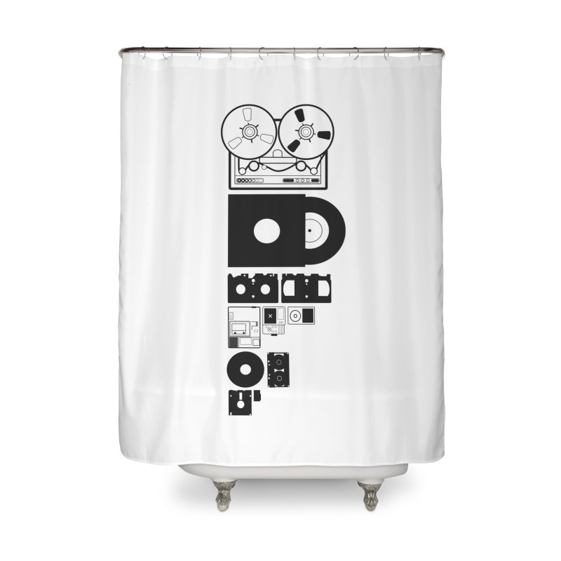 Dead Format Home Shower Curtain by I am a graphic designer