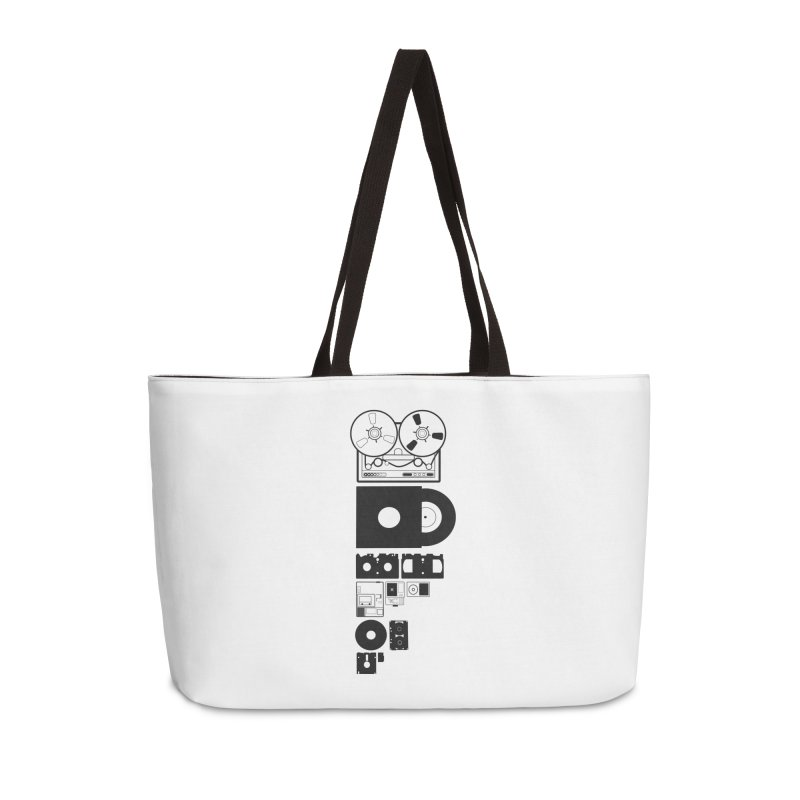 Dead Format Accessories Weekender Bag Bag by I am a graphic designer