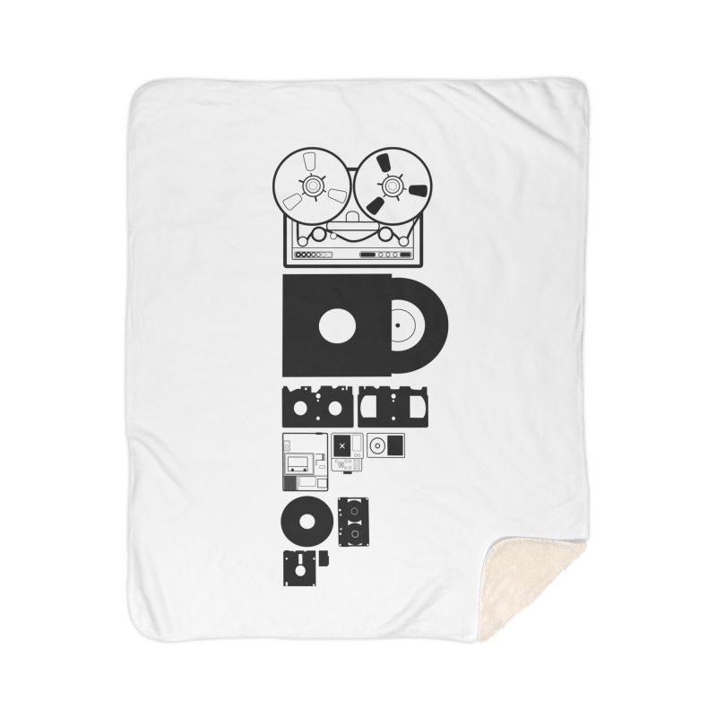 Dead Format Home Sherpa Blanket Blanket by I am a graphic designer