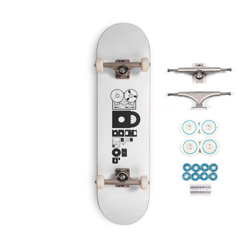 Dead Format Accessories Complete - Basic Skateboard by I am a graphic designer