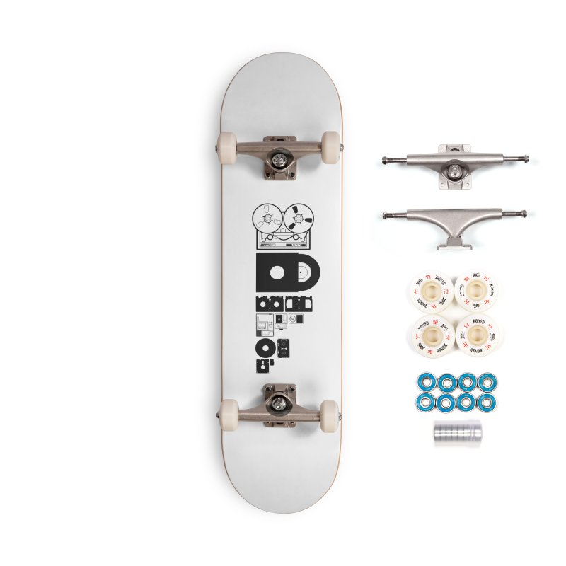 Dead Format Accessories Complete - Premium Skateboard by I am a graphic designer