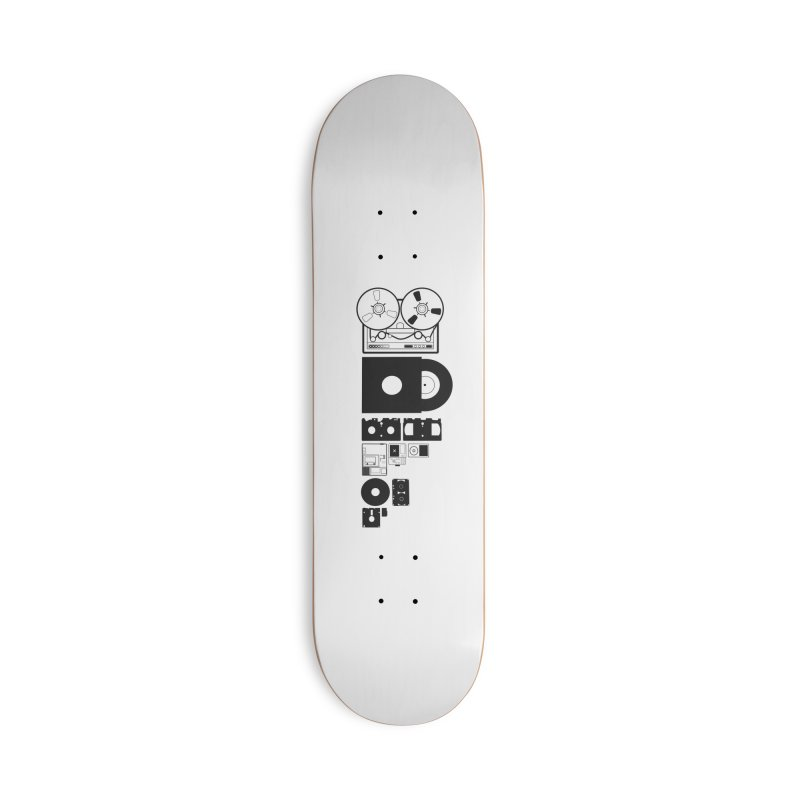 Dead Format Accessories Deck Only Skateboard by I am a graphic designer