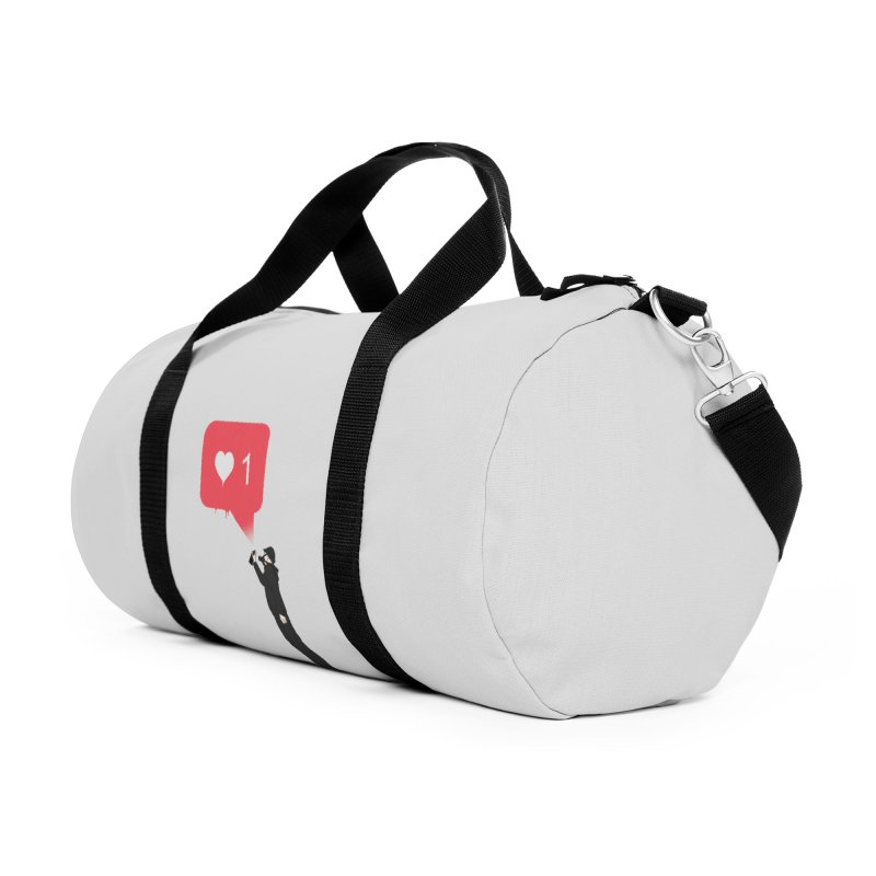 Modern Heart Accessories Duffel Bag Bag by I am a graphic designer