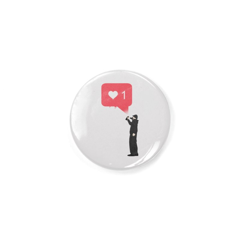 Modern Heart Accessories Button by I am a graphic designer