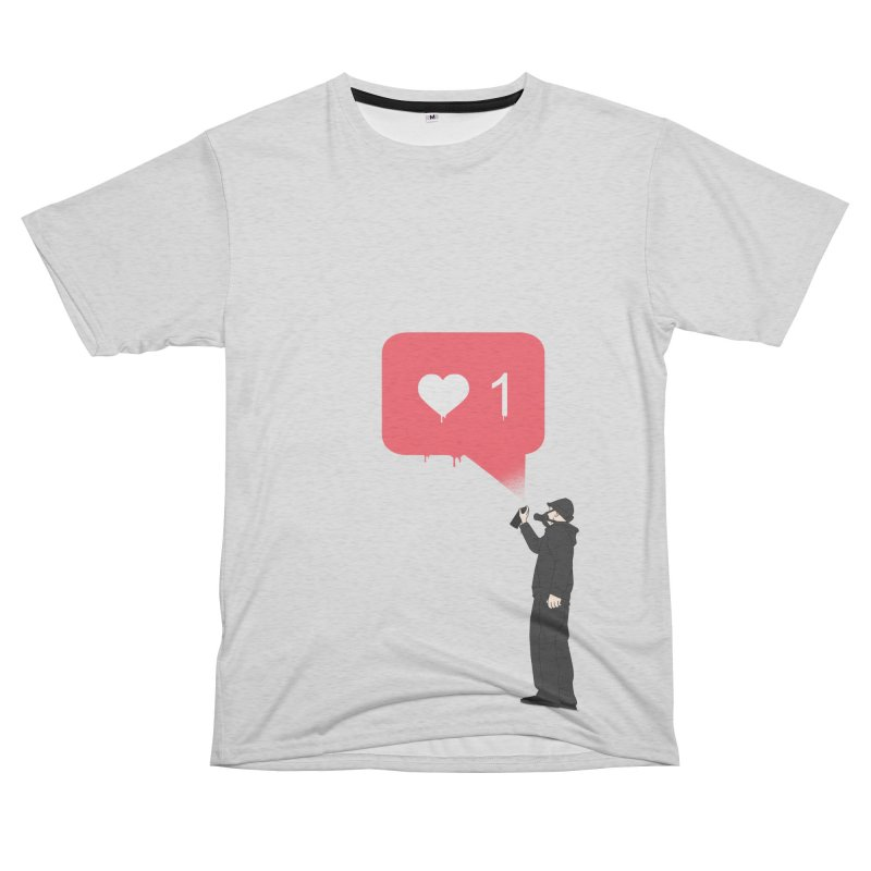 Modern Heart Women's Unisex French Terry T-Shirt Cut & Sew by I am a graphic designer