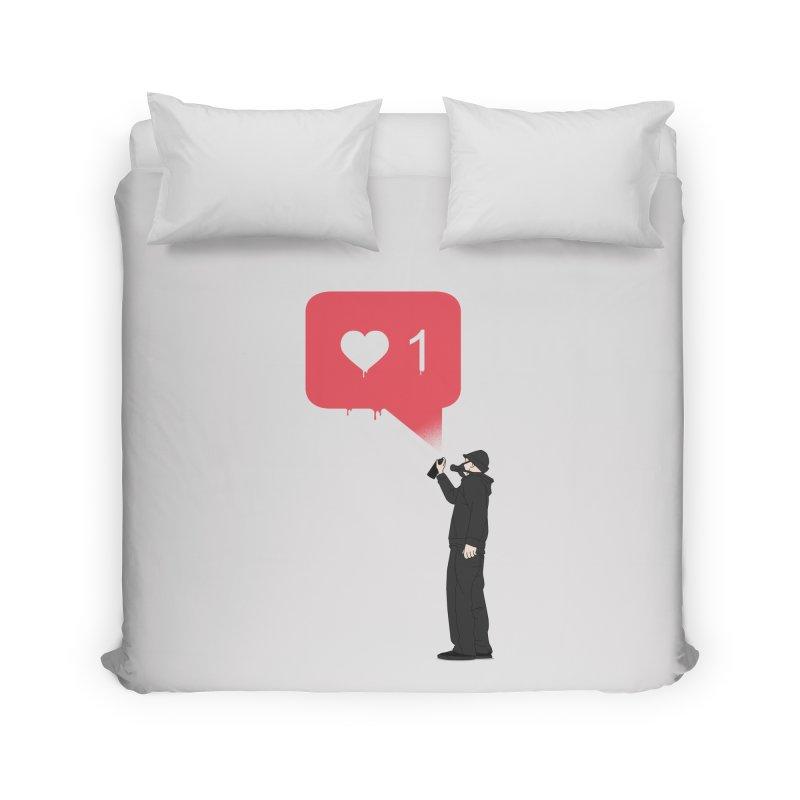 Modern Heart Home Duvet by I am a graphic designer