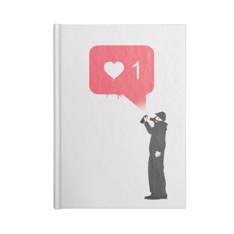 Modern Heart Accessories Blank Journal Notebook by I am a graphic designer