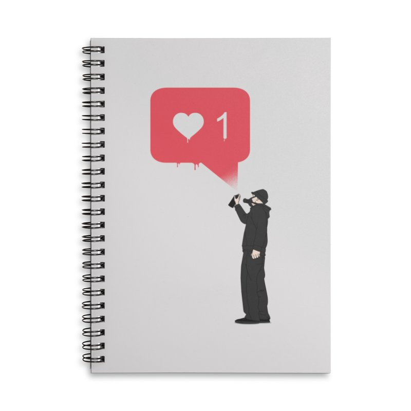 Modern Heart Accessories Lined Spiral Notebook by I am a graphic designer