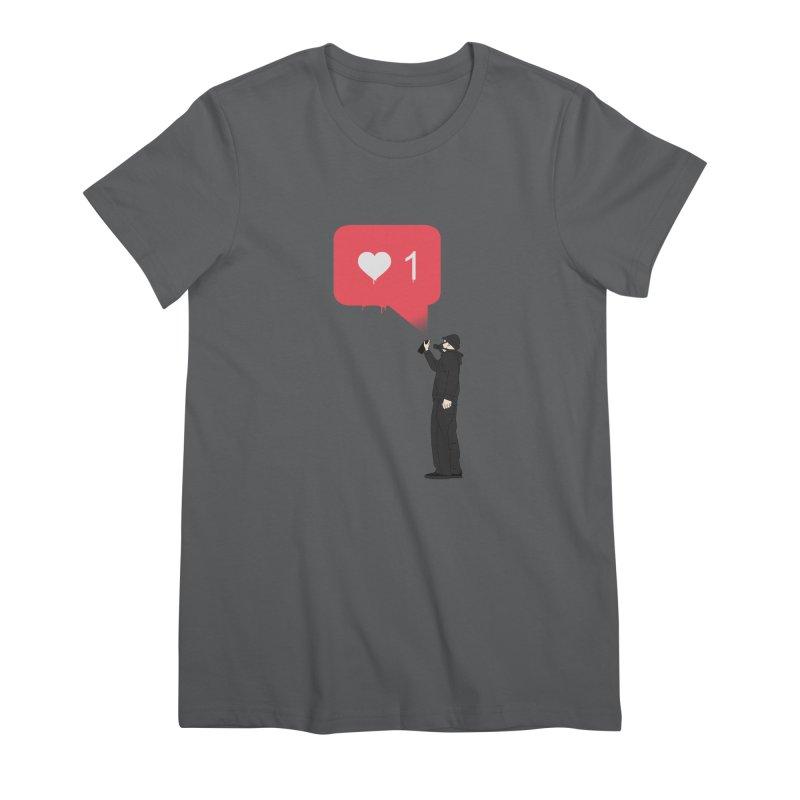 Modern Heart Women's Premium T-Shirt by I am a graphic designer