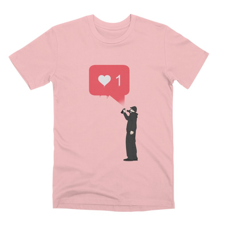 Modern Heart Men's Premium T-Shirt by I am a graphic designer