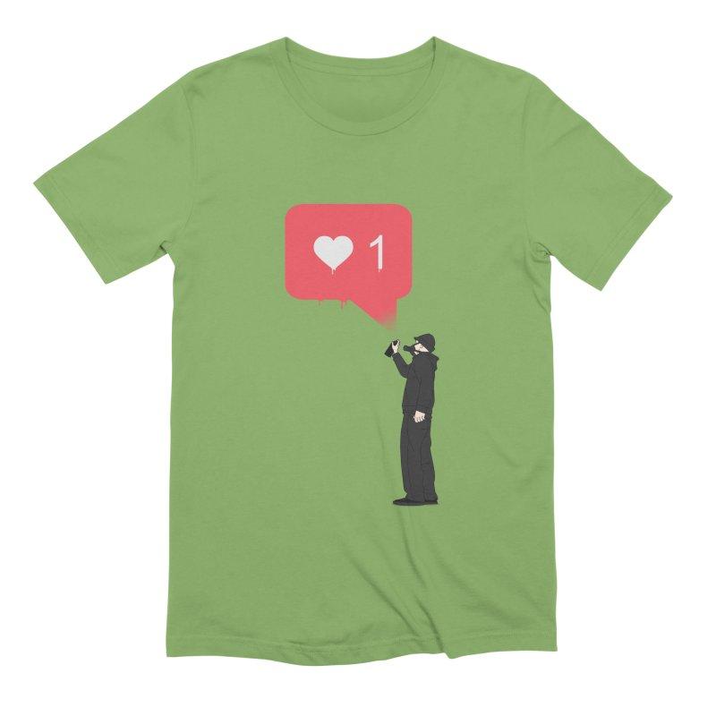 Modern Heart Men's Extra Soft T-Shirt by I am a graphic designer