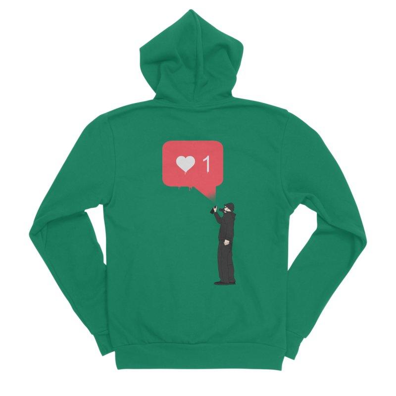 Modern Heart Women's Sponge Fleece Zip-Up Hoody by I am a graphic designer