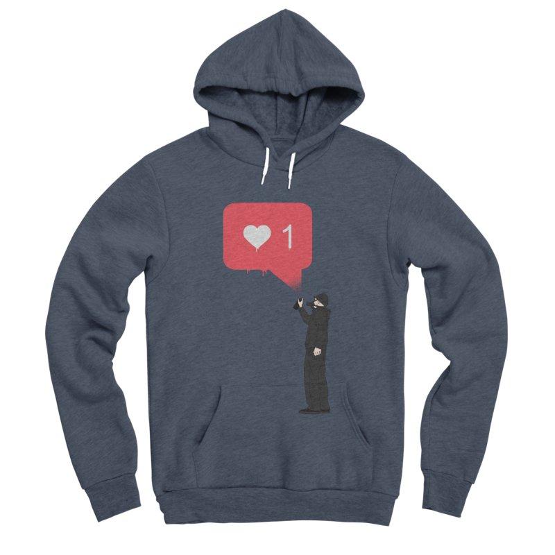 Modern Heart Men's Sponge Fleece Pullover Hoody by I am a graphic designer