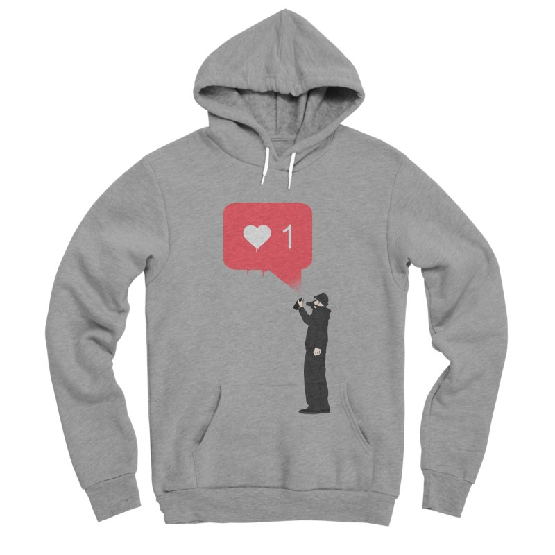 Modern Heart Women's Sponge Fleece Pullover Hoody by I am a graphic designer