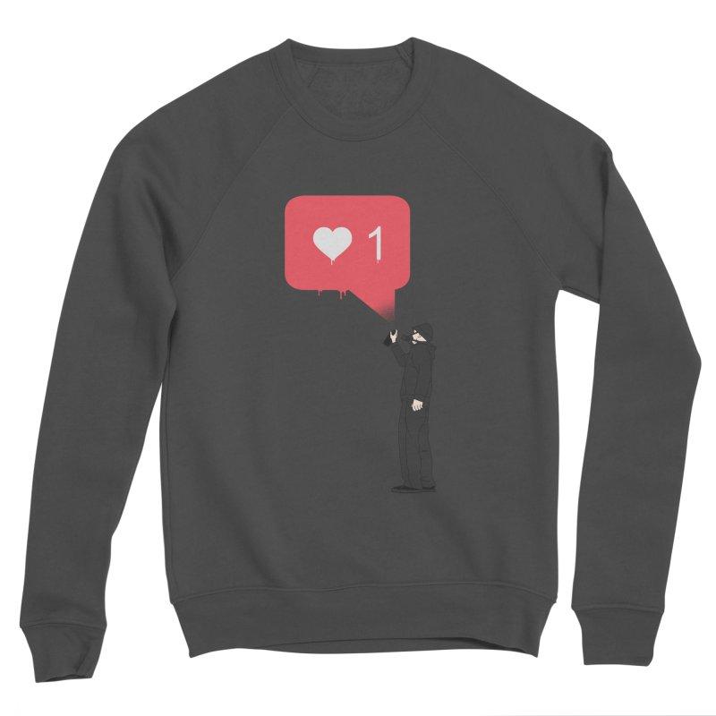 Modern Heart Men's Sponge Fleece Sweatshirt by I am a graphic designer