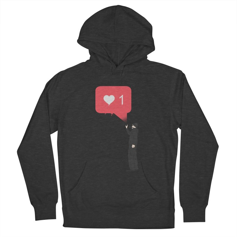 Modern Heart Men's French Terry Pullover Hoody by I am a graphic designer