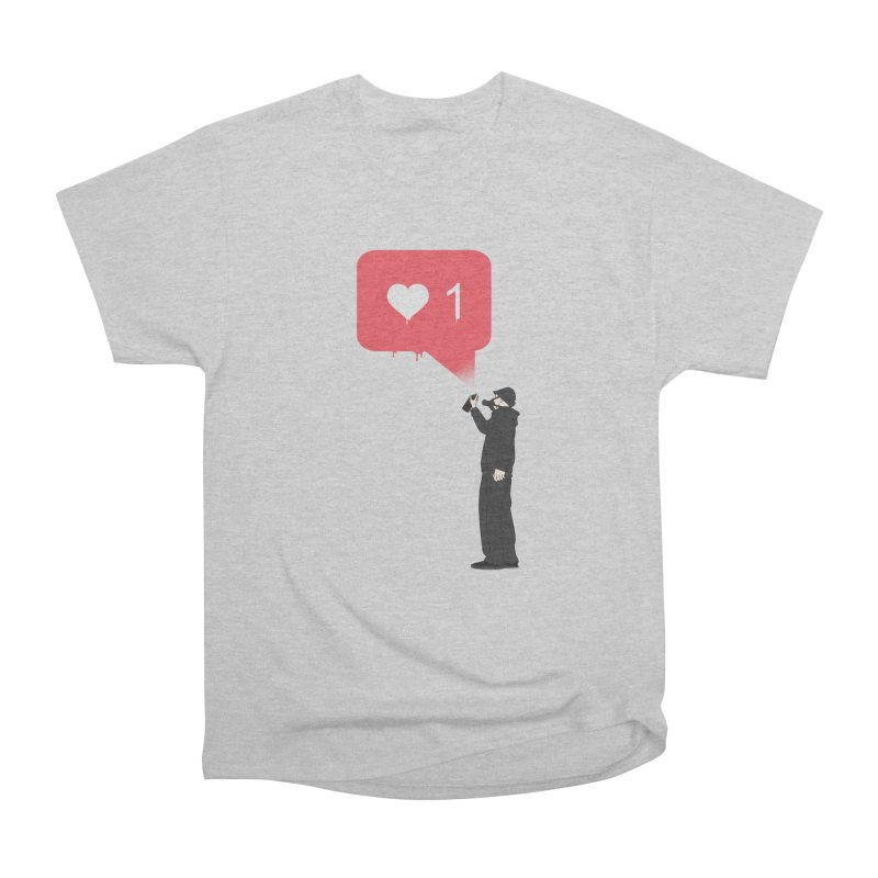 Modern Heart Men's Heavyweight T-Shirt by I am a graphic designer