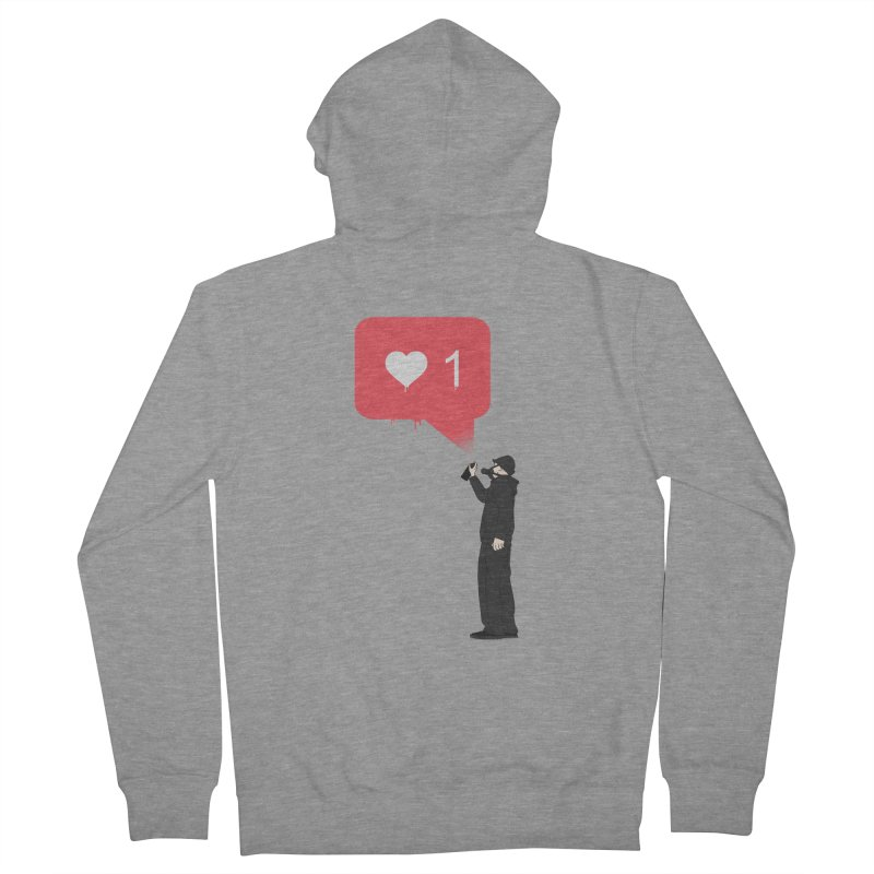 Modern Heart Women's French Terry Zip-Up Hoody by I am a graphic designer