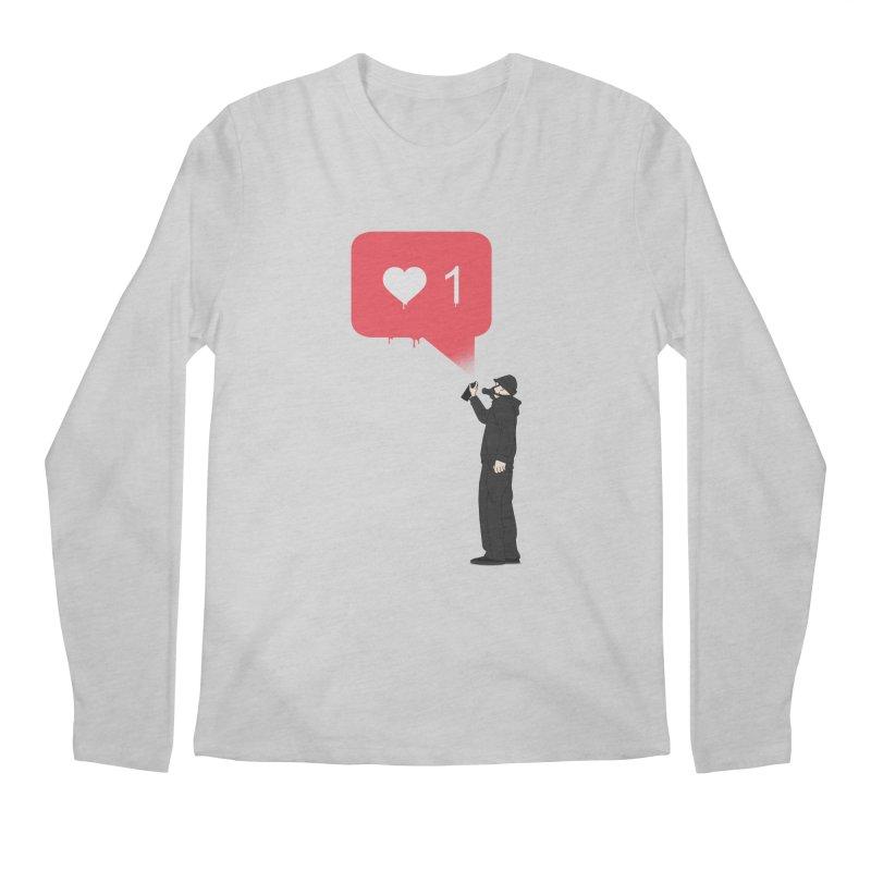 Modern Heart Men's Regular Longsleeve T-Shirt by I am a graphic designer