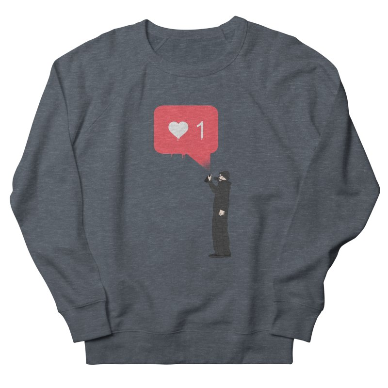 Modern Heart Men's French Terry Sweatshirt by I am a graphic designer