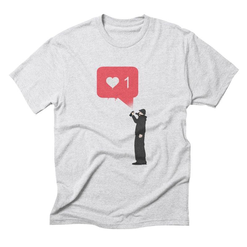 Modern Heart Men's Triblend T-Shirt by I am a graphic designer