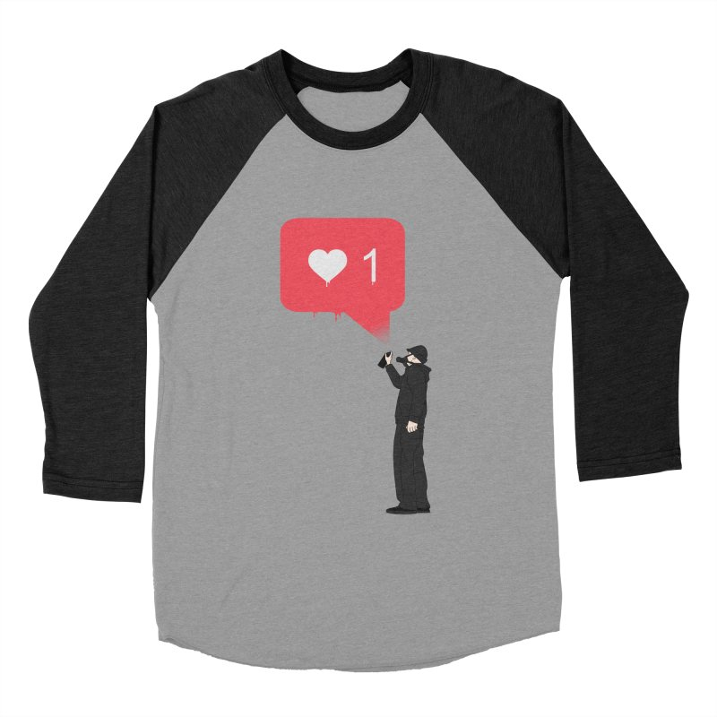 Modern Heart Men's Baseball Triblend Longsleeve T-Shirt by I am a graphic designer