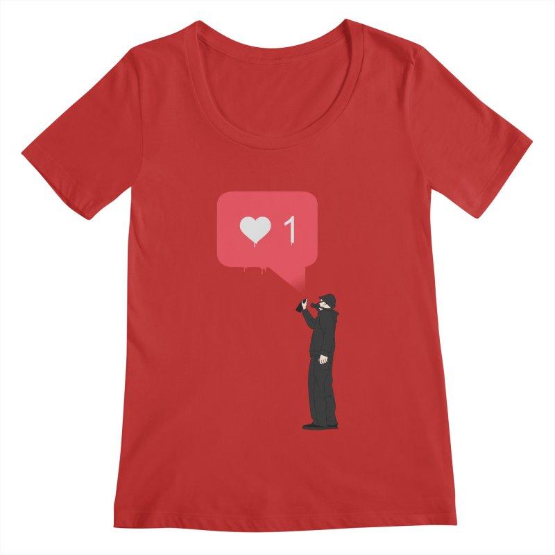 Modern Heart Women's Regular Scoop Neck by I am a graphic designer