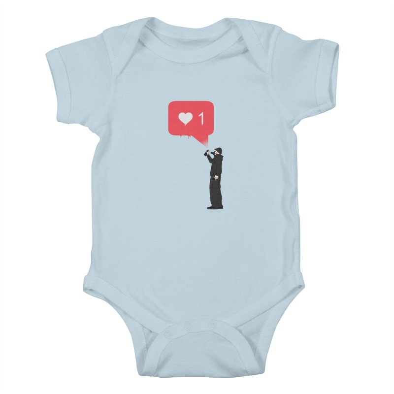 Modern Heart Kids Baby Bodysuit by I am a graphic designer