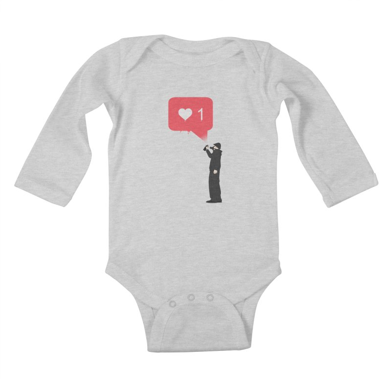Modern Heart Kids Baby Longsleeve Bodysuit by I am a graphic designer
