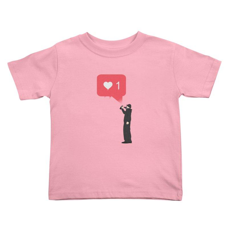 Modern Heart Kids Toddler T-Shirt by I am a graphic designer