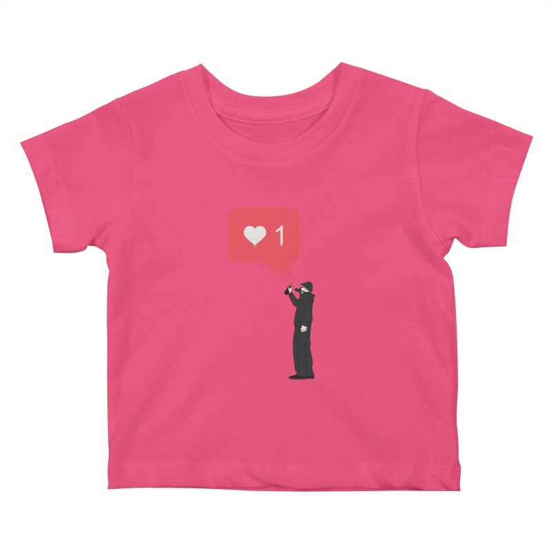 Modern Heart Kids Baby T-Shirt by I am a graphic designer
